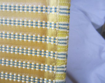 Fabric Upholstery Wall Window Treatment By The Yard Heavy Strong Gold Teal Stripe