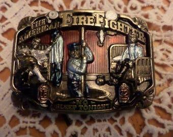 Firefighter Belt Buckle, Belt Buckles, Vintage Belt Buckles, Firemans Belt Buckle, Firefighter Gift, Firemans Gift, Mens Belt Buckles