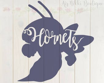 Hornets in silhouette, Hornet outline, SVG, PNG, DXF files, instant download, cut file, cameo, cricut, cut n scan