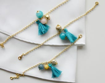 Little tiny bracelet | Gemstone and tassel