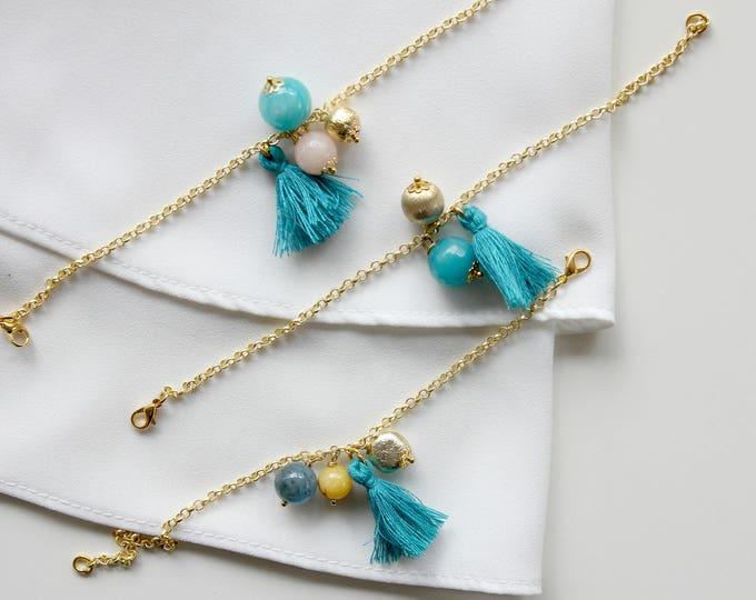Little tiny bracelet | Gemstone and tassel
