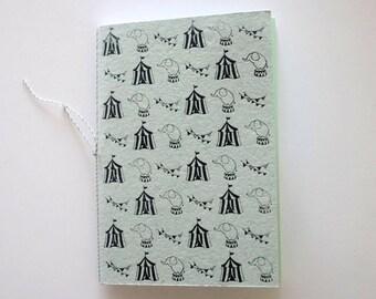 Circus Journal handprinted Notebook