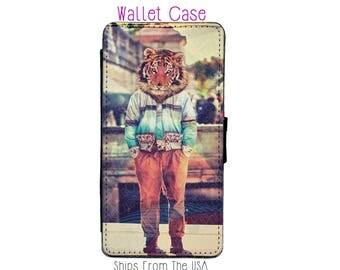 iPhone 6 Plus Case - iPhone 6 Plus Wallet Case - iphone 6 Plus - iPhone 6 Plus Wallet - Tiger