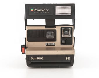 Polaroid Sun 600 SE 50 Year Anniversary Edition - Tested and Working - Uses Polaroid Originals 600 Instant Film