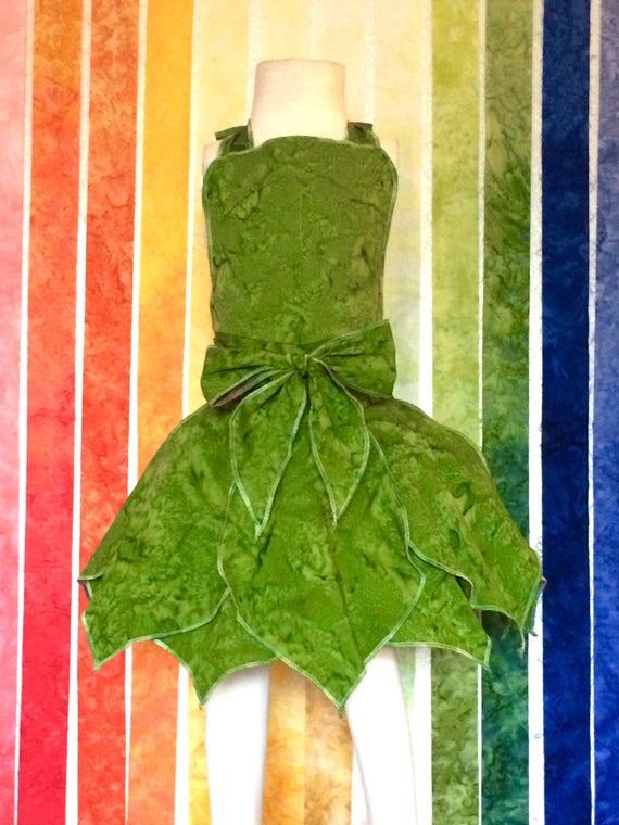 Fairy Dress Up Apron, Green, Disney Vacation Outfit, Birthday Dress, Kids Dress up, Fairy Dress, Halloween Costume, Princess Dress, Apron