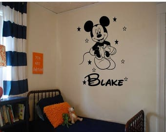 EVERYTHING IS 20% OFF Mickey Mouse Personalized  Wall Decal