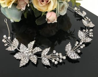 wedding headpiece, Bridal Headband, Rhinestone Headband, Hair Tiara, Bridesmaid, Hair Accessory,Prom Tiara A101