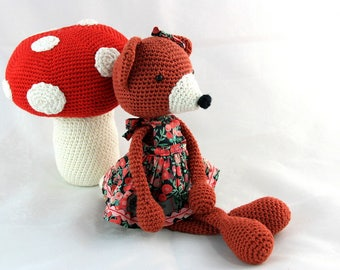 Philomène, handmade amugurumi fox for kids