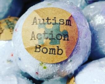 12 Autism Action Bath Bombs w/Sensory Orbeez Water Beads Inside