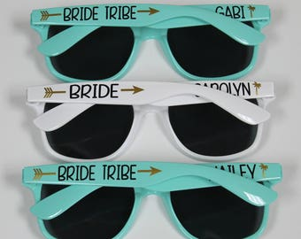 SALE! 10% OFF - Personalized Sunglasses, Wedding Favors, Bachelorette Gifts, Bachelorette Party Favors, Destination Wedding, Party Favors