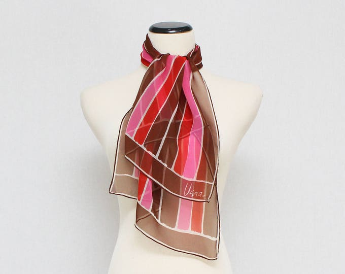 Vintage 1970s Vera Neumann Sheer Striped Scarf