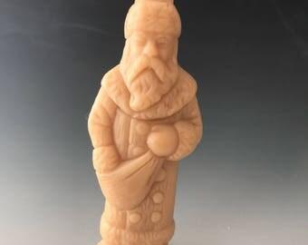 Saint Nick beeswax candle