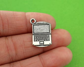 5 Silver Laptop Charms (CH024-5)
