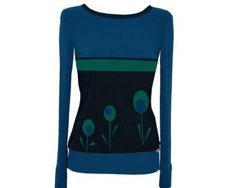 Iza Fabian - long sleeve TWO COLORS x 6 long sleeve shirt blue petrol
