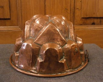 A French Copper Jelly Mould - Antique