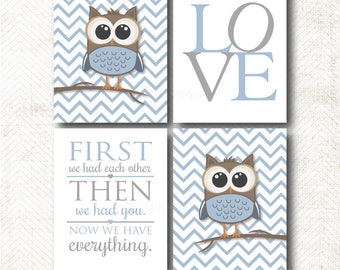 Owl, Love, First we had each other, Art Print