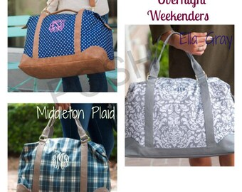 Monogrammed Travel Duffle Bag / Bridesmaid gift/  Gifts for her / Weekend bag / Overnight bag / Oversized Duffle