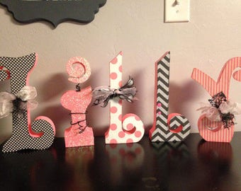 Custom wood letters. Wood letters. Nursery letters. Wedding letters.