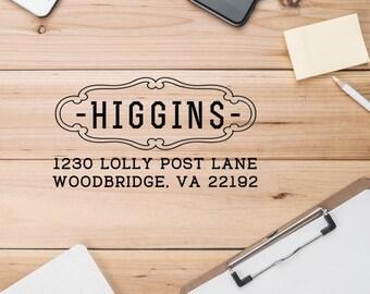 Personalized Address Stamp, Return Address Stamp, House Stamp, Shop Stamp, Mailing Stamp, Envelope Stamp  - CA753