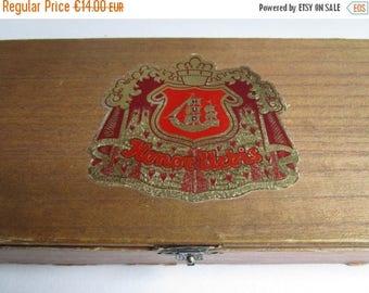 ON SALE Vintage wood cigar box collectible, Honor Urbis, Marca Selecta, trinket box, German vintage