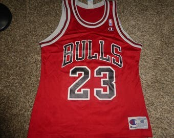 Vtg Michael Jordan Chicago Bulls NBA Champion Jersey Sz Men's 40 M