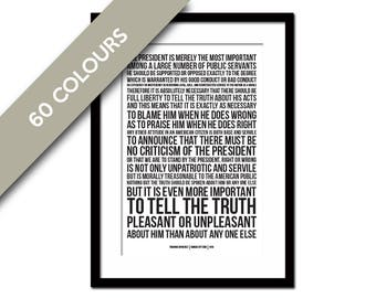 Theodore Roosevelt - Presidential Criticism - World War One American History - Teddy Roosevelt - WWI Patriotism Quote - Loyalty US Treason