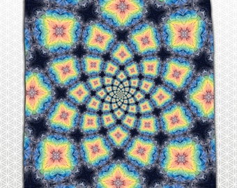 Rainbow Kaleidoscopic Bandana