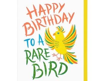 Rare Bire Birthday Letterpress Card