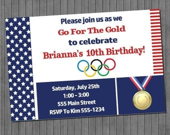 FLASH SALE Olympic Party Invitation