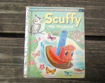 Scuffy The Tugboat A Little Golden Book A Edition - First Edition A Little Golden Book Scuffy The Tugboat