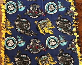 Transformers Fleece Tie Blanket
