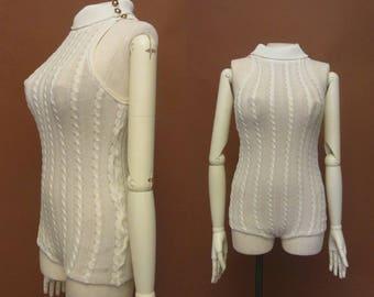 1960s Cole of California knit bathing suit | 60's Mod Swimsuit
