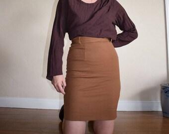 Italian Wool Pencil Skirt