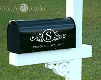 Mail Box Decal -  Mailbox Decals for your home - Includes Two (2) Decals