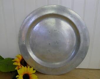 """Wilton pewter tray (large 14.5"""" diameter)"""