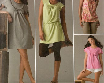 Simplicity Pattern 2934 KNIT MINI DRESS Tunic Top Misses Sizes 14 16 18 20 22