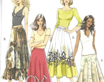 Butterick Fast & Easy Pattern 4742 FLARED SKIRTS  Misses Sizes 8 10 12 14