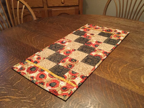 Quilted Table Runner, quilted Fall table runner, fall table runner, quilted runner, table runner