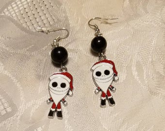 Night  Before  Christmas Earrings  With Black Beads