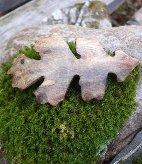 Oak Leaf hair Clip, Oak leaf barrette, Wooden Hair accessory, Natural wood, Nature Lover gift, Festival wear, Oak leaf jewelry, Natural hair