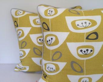 John Lewis Seedheads square cushion/pillow cover 50s Retro