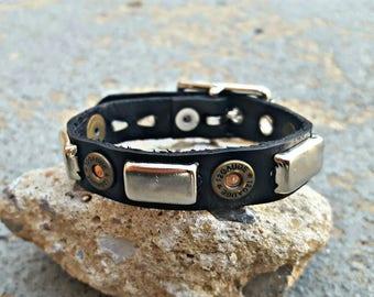 Real Leather Spiked Studded Bracelet