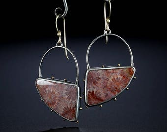 Bali Star Coral Earrings