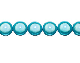 Magical 16mm - TURQUOISE round beads 4 x