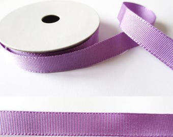 2 m x fancy 10mm purple grosgrain Ribbon