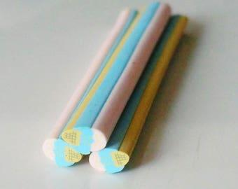 1 x cane polymer clay ice cream cone