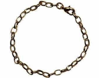 1 x bronze long.22cm Support adjustable chain Bracelet