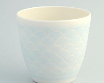 Cup made of porcelain in mint