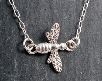Sterling Silver 925 bee chain necklace silver beekeeper beekeeping