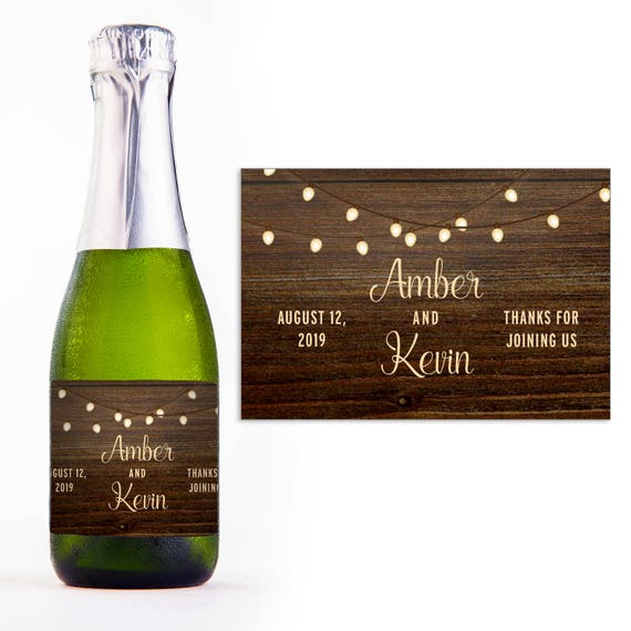 Mini Champagne Personalized Labels Wedding Favors Mini Champagne
